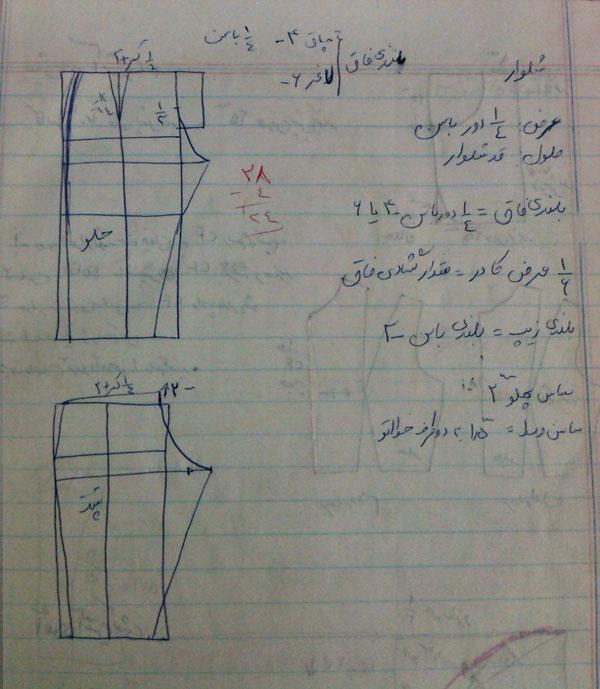 آموزش اندازه گیری و الگو کشی شلوار