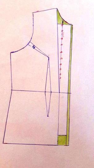 آموزش دوخت مانتو جلوباز بدون دکمه