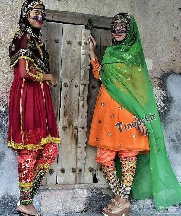 1245111212 2 - انواع مدل لباس زنانه سنتی جنوبی بندری - مدل لباس بندری- لباس هرمزگانی