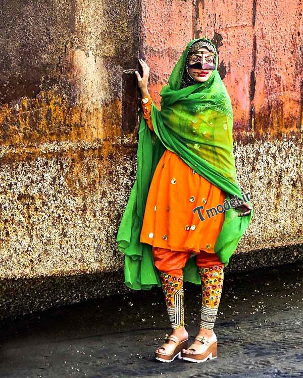 1245111212 4 - انواع مدل لباس زنانه سنتی جنوبی بندری - مدل لباس بندری- لباس هرمزگانی